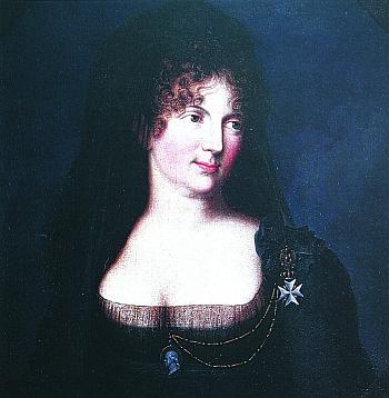 Императрица Мария Федоровна с Мальтийским крестом I степени для женщин на левом плече.