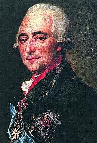 Член Священного Совета Великий Адмирал граф Г.Г. Кушелев с большим Мальтийским крестом, украшенным бриллиантами. 1800 г.